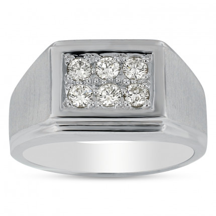 GR6450W | White Gold Mens Ring | Payroll Jewelry