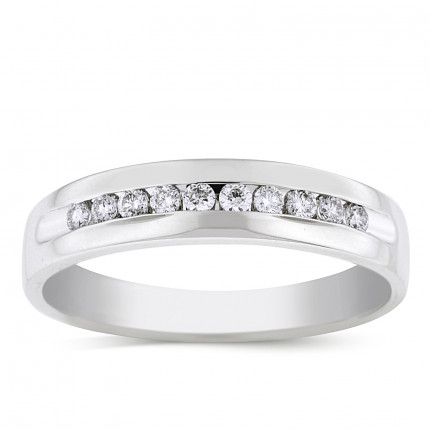 GWB10264W | White Gold Band | Payroll Jewelry