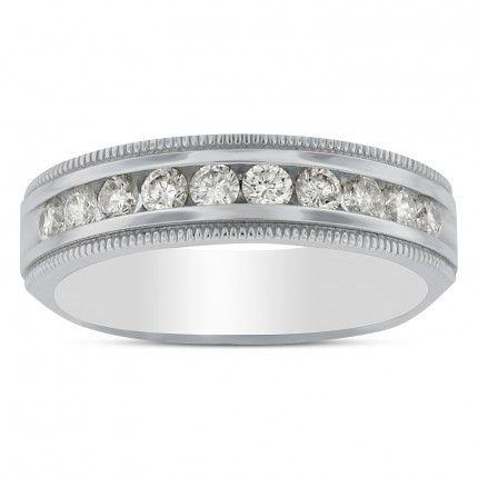GWB10325W | White Gold Mens Ring | Payroll Jewelry