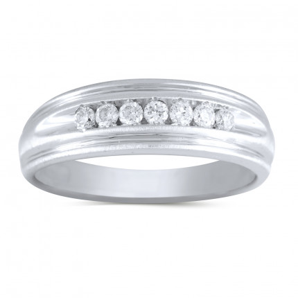 GWB1058BW | White Gold Mens Ring. | Payroll Jewelry