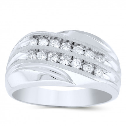 GWB14386W | White Gold Mens Ring. | Payroll Jewelry