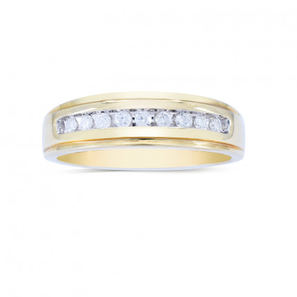 GWB196Y | Yellow Gold Mens Ring | Payroll Jewelry