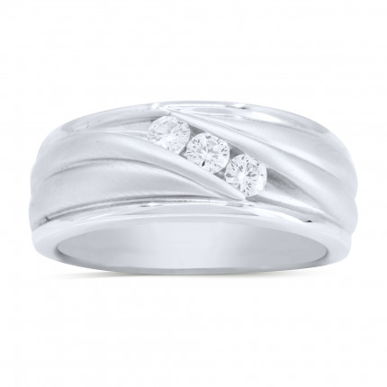 GWB3429W | White Gold Mens Ring | Payroll Jewelry