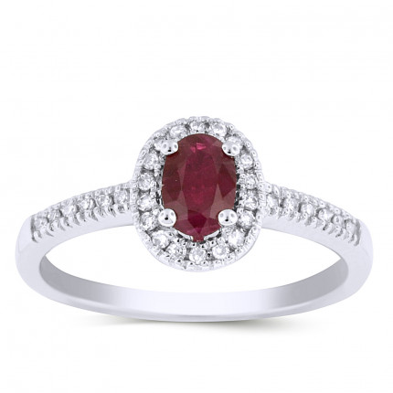 LCR30124W | Gemstone Ladies Ring | Payroll Jewelry