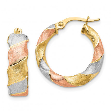 LE1837   Gold Hoops   Payroll Jewelry