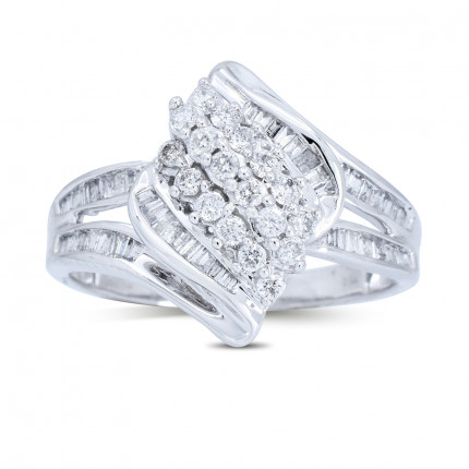 LR156W | White Gold Ladies Ring | Payroll Jewelry