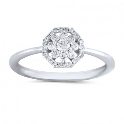 LR22148W | Halo Ladies Engagement Ring | Payroll Jewelry