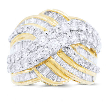 LR711Y | Yellow Gold Ladies Ring | Payroll Jewelry
