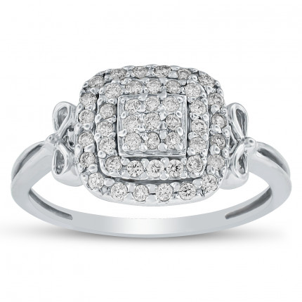 LR84131W | White Gold Ladies Ring | Payroll Jewelry