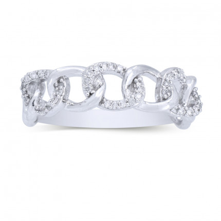 LRB30129W | White Gold Ladies Ring | Payroll Jewelry