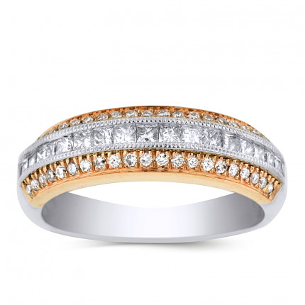 LRB55248PW | White Gold Ladies Ring | Payroll Jewelry