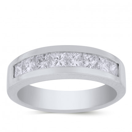 LWB8611PRW | White Gold Band | Payroll Jewelry