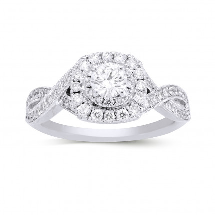 NEIL-LANE-RD | Halo Engagement Ring | Payroll Jewelry