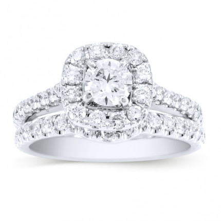 NEIL-LANE-WS | Halo Wedding Set Engagement Ring | Payroll Jewelry