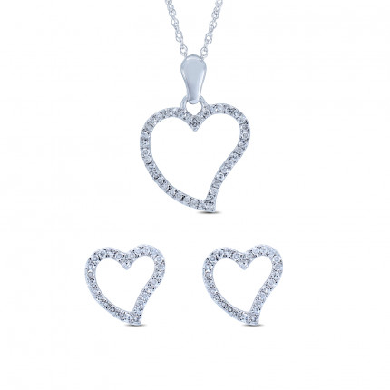 SET59658W | Heart Pendants | Payroll Jewelry