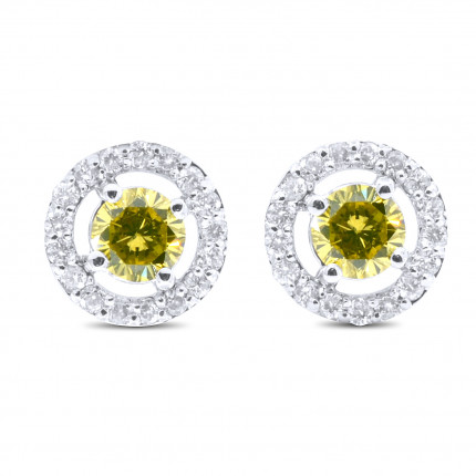 ST983-Y | Cluster Earrings | Payroll Jewelry