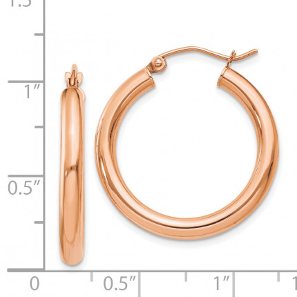 T1005 | Gold Hoop Earrings | Payroll Jewelry