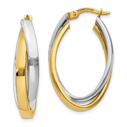 TM658 | Gold Hoop Earrings | Payroll Jewelry