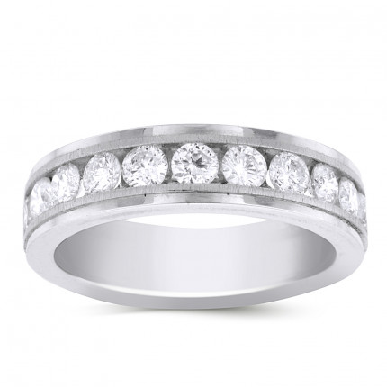 WB10627W | White Gold Band | Payroll Jewelry