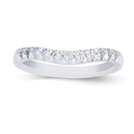 WB11141W | White Gold Band | Payroll Jewelry
