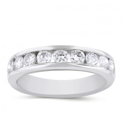 WB11578W | White Gold Band | Payroll Jewelry