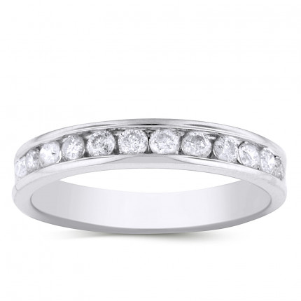 WB12126W | White Gold Band | Payroll Jewelry