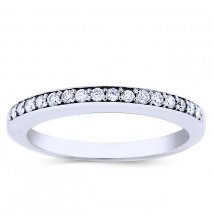 WB17167W | White Gold Band | Payroll Jewelry