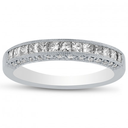WB39265W | White Gold Band | Payroll Jewelry
