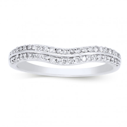 WB42134W | White Gold Band | Payroll Jewelry