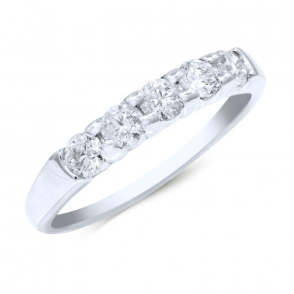 WB5465W | White Gold Band | Payroll Jewelry