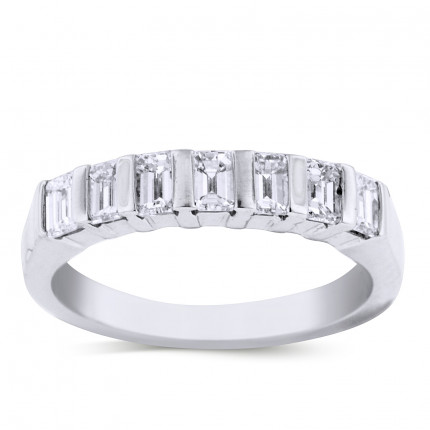 WB7605EW | White Gold Band | Payroll Jewelry