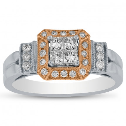 WLR1044TT | Halo Ladies Engagement Ring | Payroll Jewelry
