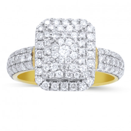 WLR105462Y | Halo Ladies Engagement Ring | Payroll Jewelry