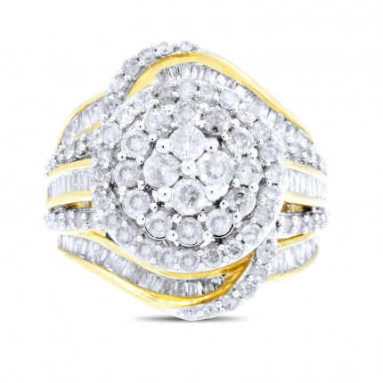 WLR151391Y | Halo Ladies Engagement Ring | Payroll Jewelry