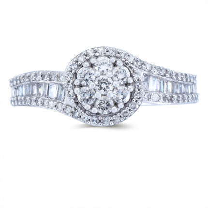WLR231W | Halo Rings | Payroll Jewelry