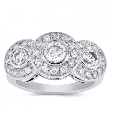 WLR38815W | Halo Ladies Engagement Ring | Payroll Jewelry