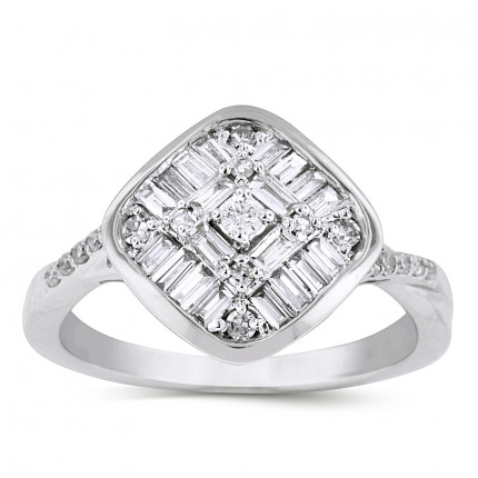 WLR39166W | Halo Ladies Engagement Ring | Payroll Jewelry