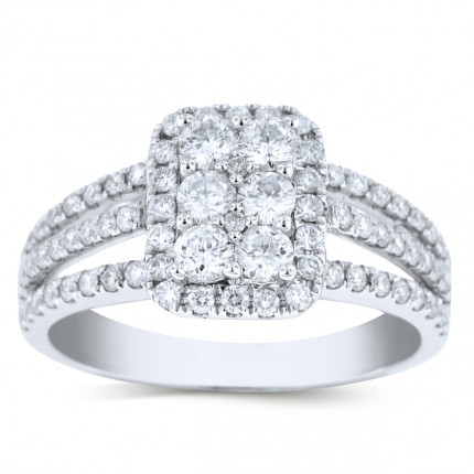 WLR74531W | Halo Ladies Engagement Ring | Payroll Jewelry