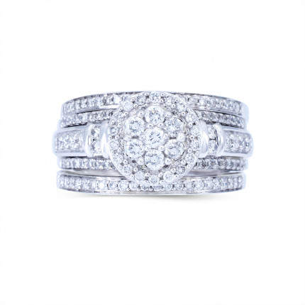WLR804173W   Halo Rings   Payroll Jewelry