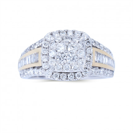 WLR804654W   Halo Rings   Payroll Jewelry