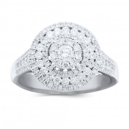 WLR90446W | Halo Engagement Ring | Payroll Jewelry