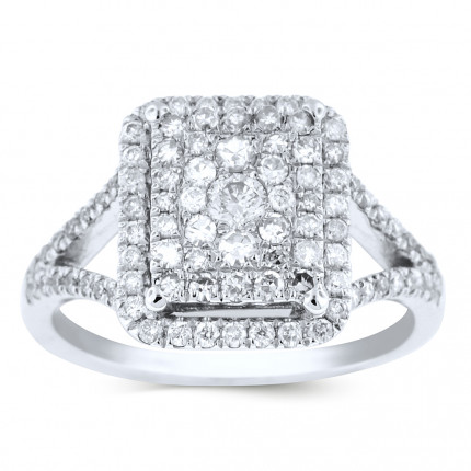 WLR99452W | Halo Ladies Engagement Ring | Payroll Jewelry