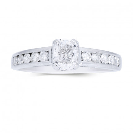 WS10756W | Side Stone Engagement Ring | Payroll Jewelry