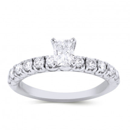 WS12505W | Side Stone Engagement Ring | Payroll Jewelry