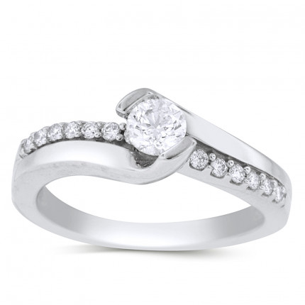 WS16311W | Side Stone Engagement Ring | Payroll Jewelry