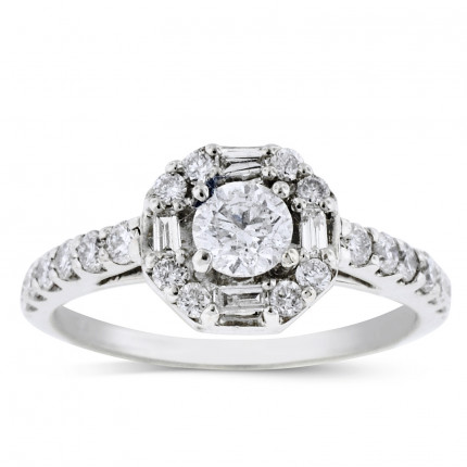 WS22363W | Halo Engagement Ring | Payroll Jewelry