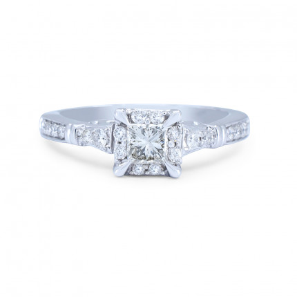 WS26252W | Halo Rings | Payroll Jewelry