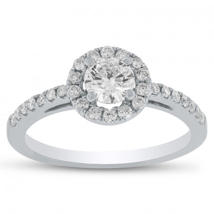 WS28326W | Halo Engagement Ring | Payroll Jewelry