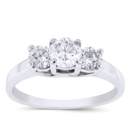 WS3502W | Three Stone Engagement Ring | Payroll Jewelry