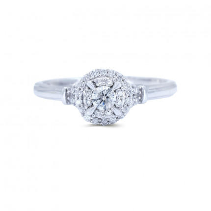 WS36201W | Halo Rings | Payroll Jewelry